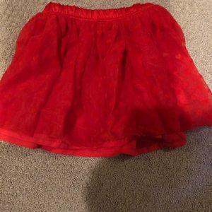 Girls red heart skirt 2T
